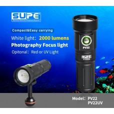 SUPE PV22 潛水攝影 2000流明 對焦補光燈 紅光
